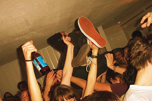 Домашняя пьяная молодежь